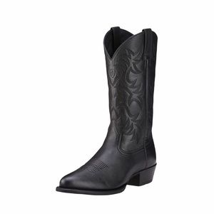 Ariat ✪ Heritage R Toe Western Leather Boot ✪ Blk